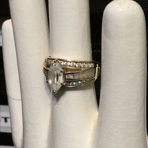 Gorgeous gold plate over 925 silver w/CZ stone